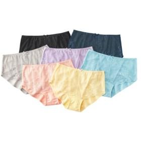 綿混ストレッチレーシーレギュラーショーツ7枚組 スタンダードショーツ,Panties