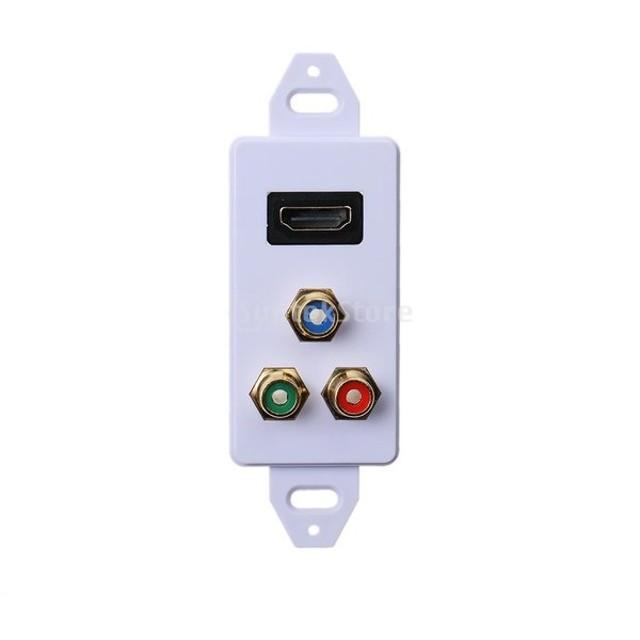 HDMI VGA 3RCAウォールプレート オーディオビデオAVイーサネット適用