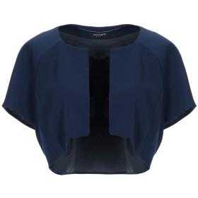《セール開催中》CRISTINAEFFE レディース テーラードジャケット ダークブルー 44 97% ポリエステル 3% ポリウレタン