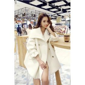 [55555SHOP] 2018新柄追加 韓国ファッション 気質 ダブルボタン コート