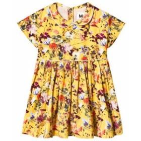 モロ ドレス カジュアルドレス キッズ 女の子【Molo Yellow Cinna Sunrise Flowers Dress】