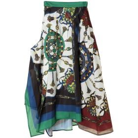 UN3D. オリガミスカーフスカート その他 スカート,グリーン