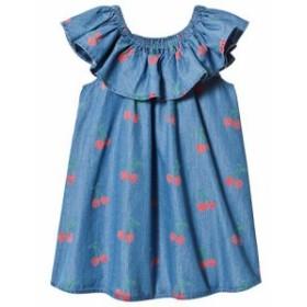 ステラマッカートニー ドレス カジュアルドレス キッズ 女の子【Stella McCartney Kids Blue Cherry Print