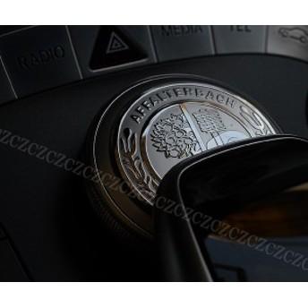 送料無料 MercedesBenz メルセデスベンツ AMG コマンドコントローラー ステッカー シルバー/ゴールド 3Dエンボス加工 立体 高