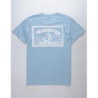 ソルティークルー Tシャツ カットソー デザインTシャツ メンズ【SALTY CREW Lucky Light Blue Mens T-Shirt