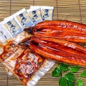 鹿児島産 鰻蒲焼2尾・きざみうなぎ2袋セット