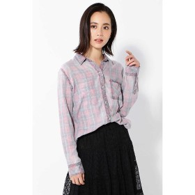 【59%OFF】 ローズバッド 淡色チェックシャツ レディース レッド1 XS 【ROSE BUD】 【セール開催中】