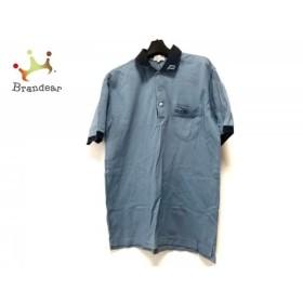 アダバット Adabat 半袖ポロシャツ サイズ4 XL メンズ ブルー×ダークネイビー   スペシャル特価 20190711