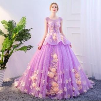 演奏会ドレス チュールスカート トレーン お呼ばれドレス ロングドレス 演出 フェミニン パーティー コンサート 声楽 撮影 編み上げ