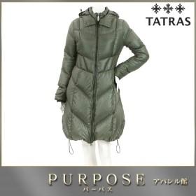 タトラス TATRAS ダウン ロング コート フード付き 中綿 グレー サイズ 34 レディース