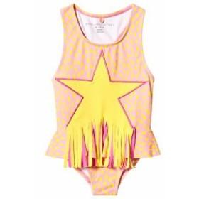 ステラマッカートニー 水着 スイムウェア キッズ 女の子【Stella McCartney Kids Pink Star Print Fringe Swim