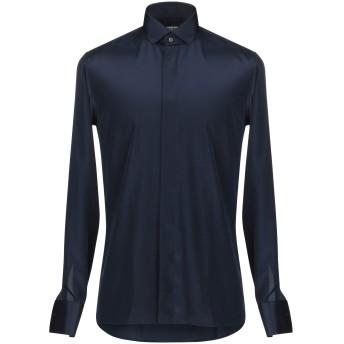 《期間限定セール開催中!》DANESI メンズ シャツ ブルー 38 ポリエステル 100%