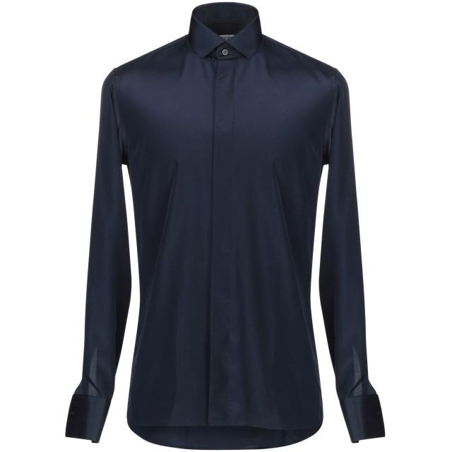 《期間限定セール開催中!》DANESI メンズ シャツ ブルー 40 ポリエステル 100%