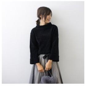 モードローブ モールタートルニット レディース ブラック FREE 【MODE ROBE】