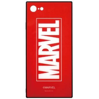 MARVEL iPhone8/7対応スクエアガラスケース ロゴ・レッド