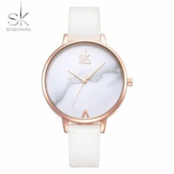 レディース腕時計 シンプル 大理石風文字盤 ファッションウォッチ 海外人気モデル SK 日本未発売【領収発行可】
