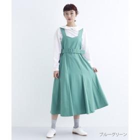 メルロー ベルト付きマーメードジャンパースカート レディース ブルー FREE 【merlot】