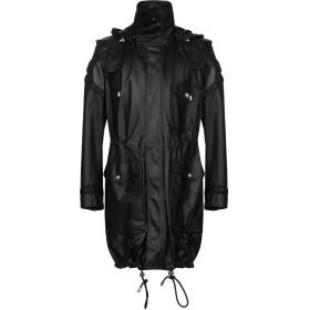 《セール開催中》VERSUS VERSACE メンズ ライトコート ブラック 44 羊革(ラムスキン) 100%