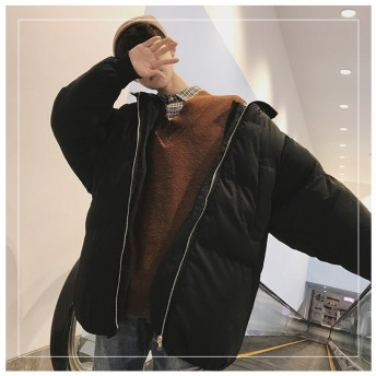 [55555SHOP] 大人気!新入荷 秋冬新作 ダウンジャケット メンズ 中・長セクション ダウンコート フード付きアウターコート 中・長セクションコート ファスナー 防寒軽量 高級感