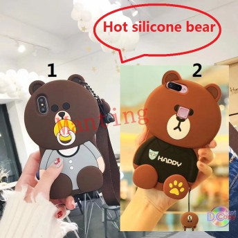 IPhone 6/6S/6 Plus/6S Plus、 5/5S/SE Silicone bear shell