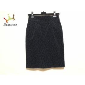 エストネーション ESTNATION スカート サイズ38 M レディース ダークネイビー×黒 bis           スペシャル特価 20190524