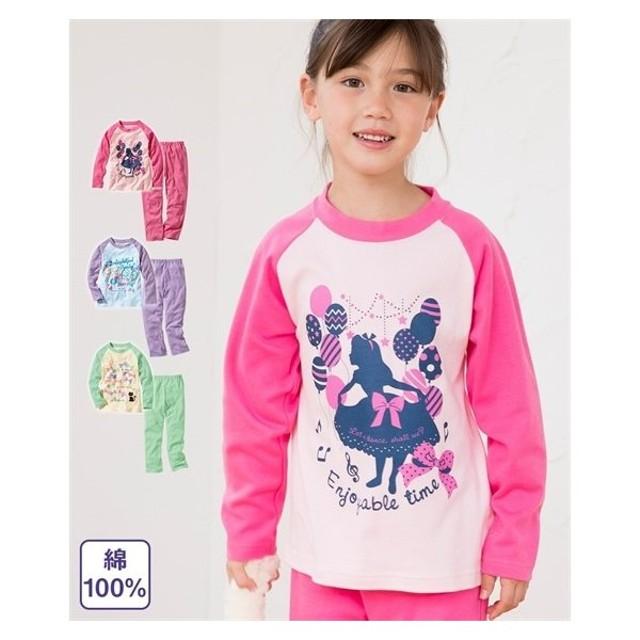 5fd9832a110e0 アウター キッズ 綿100%長袖プリントパジャマ(女の子 子供服) 春 衣料 ...