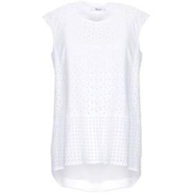 《期間限定セール開催中!》BLUGIRL BLUMARINE レディース T シャツ ホワイト 42 コットン 100% / ポリエステル