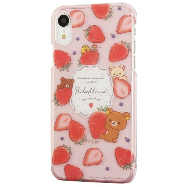 リラックマ iPhoneXR対応ハードケース イチゴ