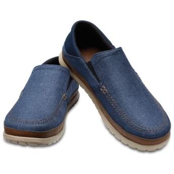 【クロックス公式】 サンタクルーズ プラヤ スリップオン メン Men's Santa Cruz Playa Slip-On メンズ、紳士、男性用 ブルー/青 25cm,26cm,27cm,28cm,29cm loafer ローファー 靴