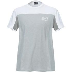 《期間限定 セール開催中》EA7 メンズ T シャツ ライトグレー XXL コットン 100%