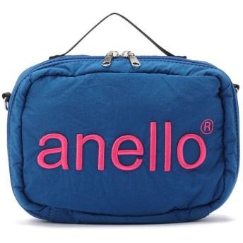 エルエイチピー anello/アネロ/HDT立体刺繍ネーム ショルダーバッグ《AT H1902》 レディース BLUE F 【LHP】