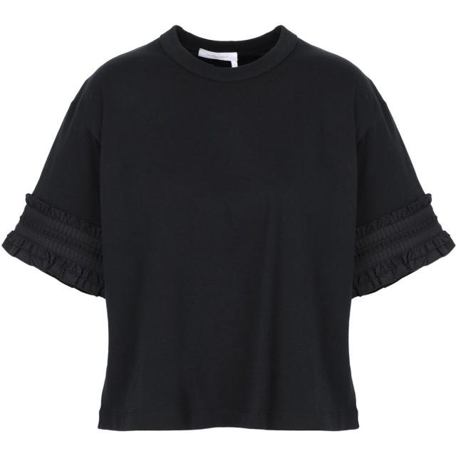 《期間限定セール開催中!》SEE BY CHLO レディース T シャツ ブラック XS コットン 100%