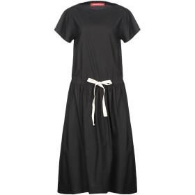 《送料無料》VIRGINIA BIZZI レディース 7分丈ワンピース・ドレス ブラック 42 コットン 100%
