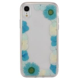 iPhoneXR対応ハーバリウムケース ブルー