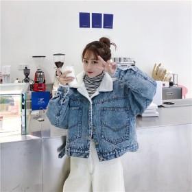 2018 超人気 韓国ファッション 韓国風 厚手 あったか ジージャン デニムジャケット