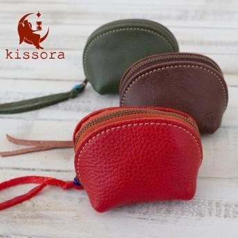 コインケース 本革 kissora キソラ KIIS-028 オイルシュリンクIS 小銭入れ レザー 日本製 レディース
