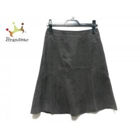 ニジュウサンク 23区 スカート サイズ36 S レディース 美品 ダークブラウン             スペシャル特価 20190523