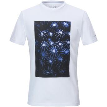 《9/20まで! 限定セール開催中》MASSIMO REBECCHI メンズ T シャツ ホワイト XXL コットン 100%