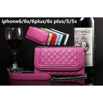 チェーン付き PU 革 ゴージャス おしゃれ 手帳型 横開き 花柄 カード収納型 レディス、女性用 iPhone6Plus/6s plus(5.5インチ) iPhone6/6s(4.7インチ) iP