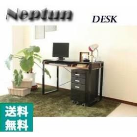 【送料無料】デザイナーズ家具 Neptun 110幅デスク(単体) 【シンプル】【ガラス】【オフィ