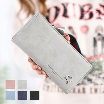 レディース 送料無料 財布 長財布 ウォレット 小銭入れ カード 収納 シンプル ジャバラ式 プチプラ 開閉しやすいラウンドファスナー PUレザー