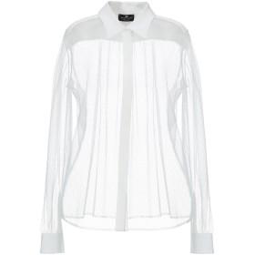 《期間限定 セール開催中》ELISABETTA FRANCHI レディース シャツ ホワイト 42 ポリエステル 100% / レーヨン
