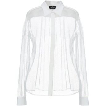 《期間限定セール開催中!》ELISABETTA FRANCHI レディース シャツ ホワイト 42 ポリエステル 100% / レーヨン