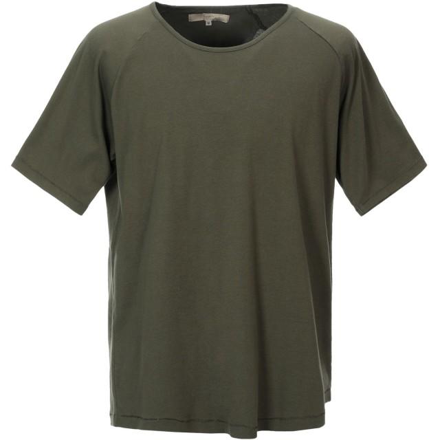 《セール開催中》SUIT メンズ T シャツ ミリタリーグリーン M コットン 100%