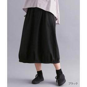 【40%OFF】 メルロー ウールミックスコクーンスカート レディース ブラック FREE 【merlot】 【セール開催中】