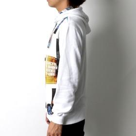 パーカー - MARUKAWA B ONE SOUL パーカー メンズ 春 裏毛 昇華転写 プリント ホワイト/ブラック M/L/XL【 プルオーバー プルパーカー総柄 ストリート カジュアル】
