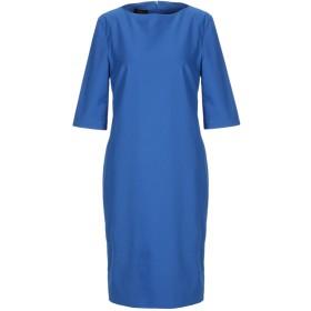 《セール開催中》LES COPAINS レディース ミニワンピース&ドレス ブルー 40 コットン 63% / ナイロン 31% / ポリウレタン 6%