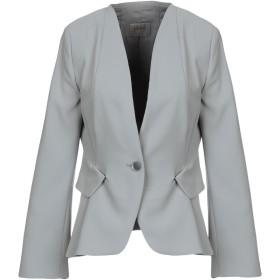 《期間限定セール開催中!》ARMANI COLLEZIONI レディース テーラードジャケット グレー 48 ポリエステル 100%