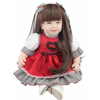 リボーンドール 赤ちゃん人形 ベビー人形 ベビードール リアル ハンドメイド シリコン&綿 22Inch 新品 高級 笑顔 ロン