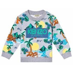 ケンゾー スカート ショートスカート キッズ 男の子【Kenzo Kids Grey Hawaii Tiger Print Sweatshirt】